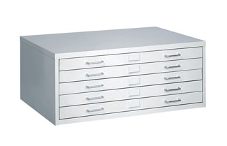 "Safco Facil 5 Drawer Flat File 24""x36"" in Light Gray (4969LG)"