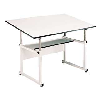 alvin workmaster 4 post drafting table 36 quot x48 quot w white base wm48 4 xb