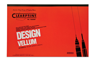 "Clearprint 1000HP 16lb Design Vellum Pad 11""x17"" 50 Sheets (10001416)"