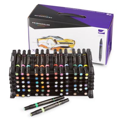 Prismacolor Premier Chisel Fine Tip Art Markers 72 Marker Set 3722