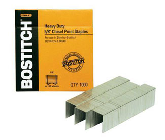 "Stanley Bostitch 5/8"" Heavy Duty Staples 1000/Box (SB35 5/8-1M)"