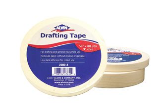 "Alvin Drafting Tape 1/2"" x 60 Yards 1 Roll (2300-A)"
