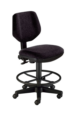 Alvin Comfort Classic Deluxe Drafting Task Chair - Black (CH290-40DH)