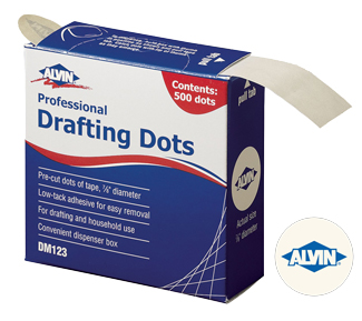 Alvin Drafting Dots 500/roll (DM123)