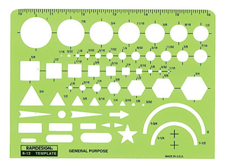 R12 1 Each Rapidesign General Purpose Template