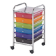 Alvin Blue Hills Studio Storage Cart 6-Drawer (Standard) Multi-Colored (SC62MC)