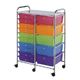 Alvin Blue Hills Studio Storage Cart 15-Drawer (Standard and Deep) Multi-Colored (SC15MCDW)