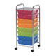 Alvin Blue Hills Studio Storage Cart 8-Drawer (Wide) Multi-Colored (SC8MC-12)