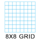 "Clearprint 1000H-8 16lb Design Vellum 8x8 Fade-Out Grid Field Sketch Book 8.5""x11"" 50 Sheets (CVB8511G2)"