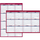 "AT-A-GLANCE  Erasable Two-Sided Vertical/Horizontal Yearly Wall Calendar 24""x36"" Red and Blue 2019 (PM262819)"