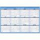 "AT-A-GLANCE  Erasable Two-Sided Horizontal Yearly Wall Calendar 48""x32"" Blue and White 2019 (PM3002819)"