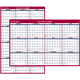 "AT-A-GLANCE  Erasable Two-Sided Vertical/Horizontal Yearly Wall Calendar 32""x48"" Red and Blue 2019 (PM3262819)"