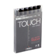 ShinHan Art TOUCH TWIN Grey 6 Marker Set (1100604)