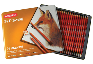 Soft Tonal Drawing Pencils Derwent Drawing 24 Tin