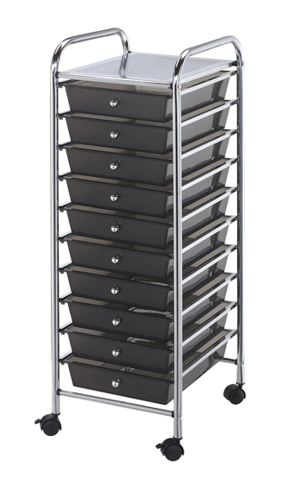 Alvin Blue Hills Studio Storage Cart 10-Drawer (Standard) Smoke (SC10SM)