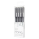 Copic Multiliner Gray 4 Pen Set (MLGRAY)