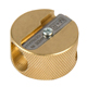 Alvin Solid Brass Double-Hole Round Pencil Sharpeners 12/Box (9867)