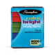 "Swingline Color Bright 1/4"" Leg Staples Assorted Colors Blue Red Green 6000/Pack (S7035123)"