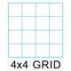 "Clearprint 1000H-4 16lb Design Vellum 4x4 Fade-Out Grid Art Pad 8.5""x11"" 50 Sheets (26321620911)"