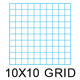 "Clearprint 1000HP-10 16lb Design Vellum 10x10 Fade-Out Grid Pad 18""x24"" 50 Sheets (10003422)"