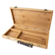 Pacific Arc Coleto Artist Solid Bamboo Small Tool Box with Leather Handle (BTB1206)