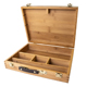 Pacific Arc Zacate Artist Solid Bamboo Large Tool Box with Leather Handle and Paint Palette (BTB1279)