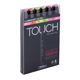 ShinHan Art TOUCH TWIN Fluorescent Colors 6 Marker Set (1100623)