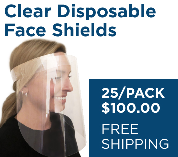 Clear Disposable Face Shields